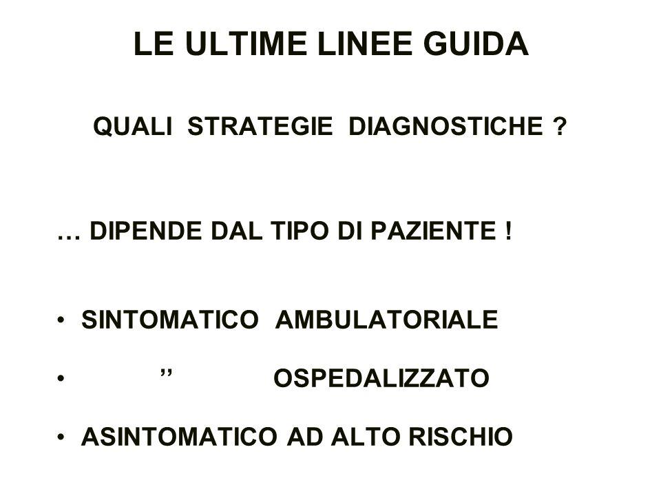 LE ULTIME LINEE GUIDA QUALI STRATEGIE DIAGNOSTICHE