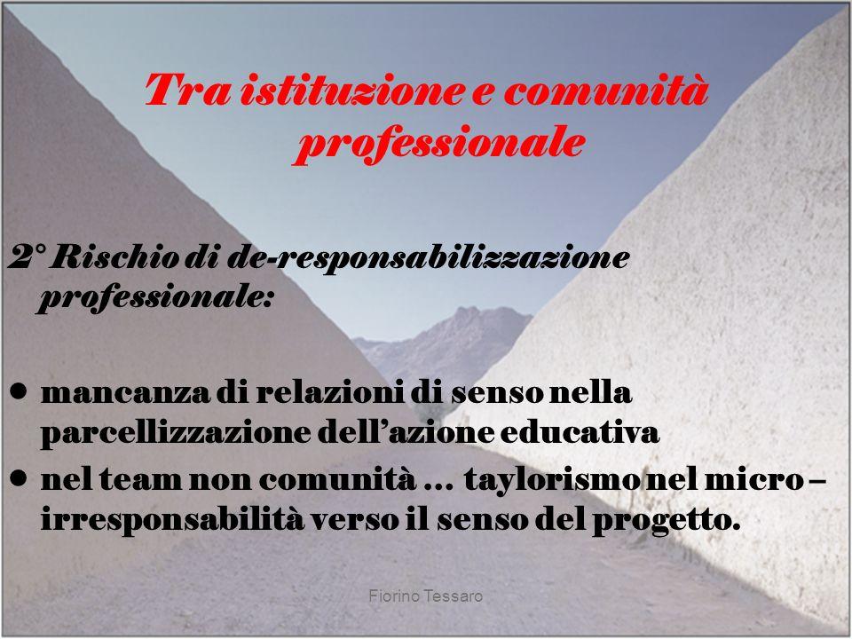 Tra istituzione e comunità professionale