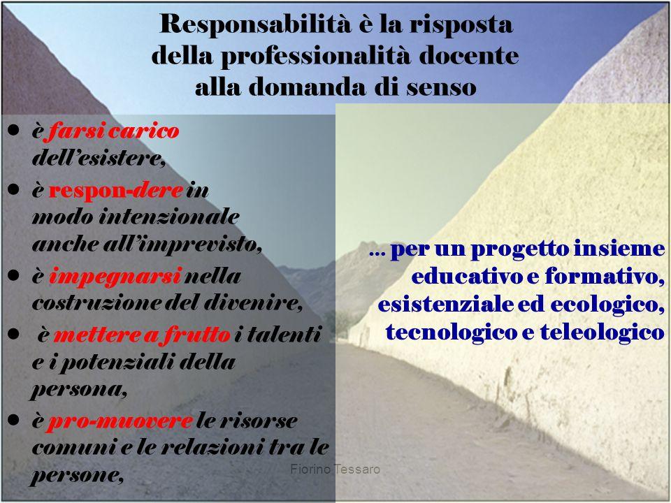 Responsabilità è la risposta della professionalità docente alla domanda di senso