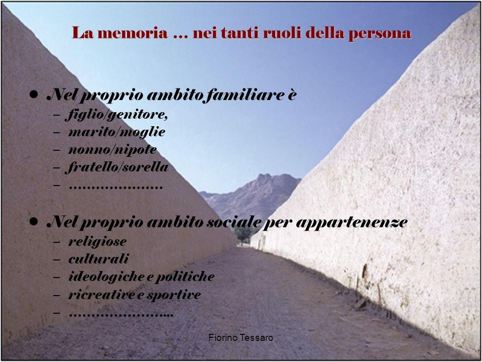 La memoria … nei tanti ruoli della persona