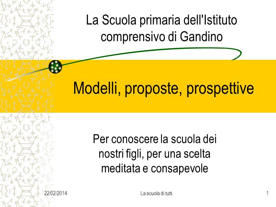 La Scuola primaria dell Istituto comprensivo di Gandino Modelli, proposte, prospettive