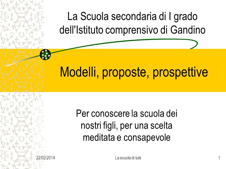 La Scuola secondaria di I grado dell Istituto comprensivo di Gandino Modelli, proposte, prospettive