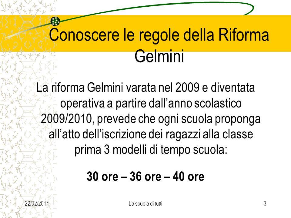 Conoscere le regole della Riforma Gelmini
