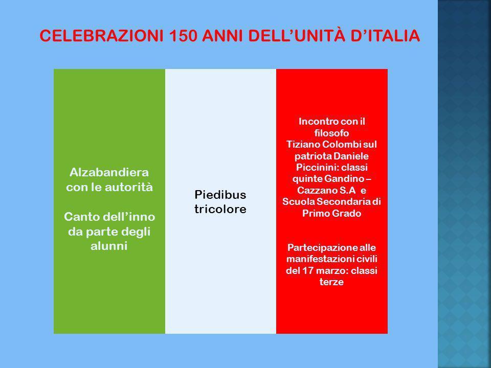 CELEBRAZIONI 150 ANNI DELL'UNITÀ D'ITALIA