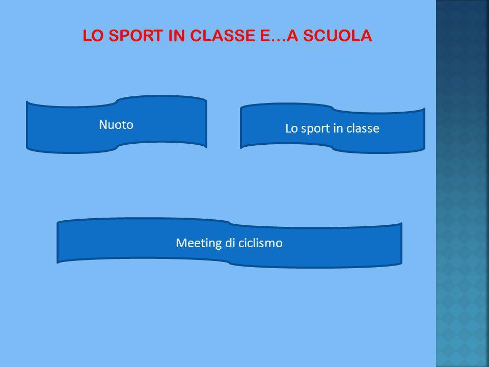 LO SPORT IN CLASSE E…A SCUOLA