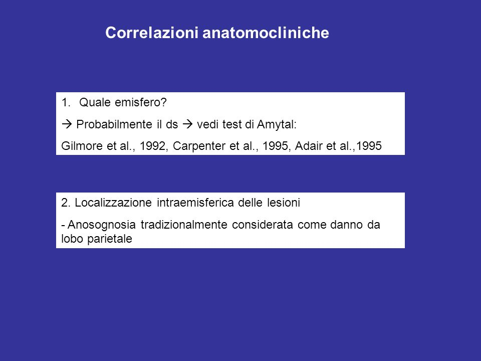 Correlazioni anatomocliniche