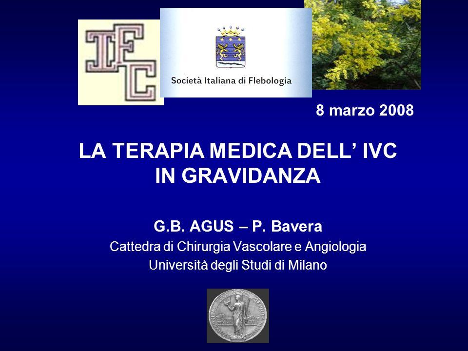 LA TERAPIA MEDICA DELL' IVC