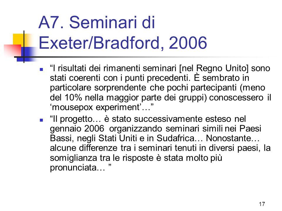 A7. Seminari di Exeter/Bradford, 2006
