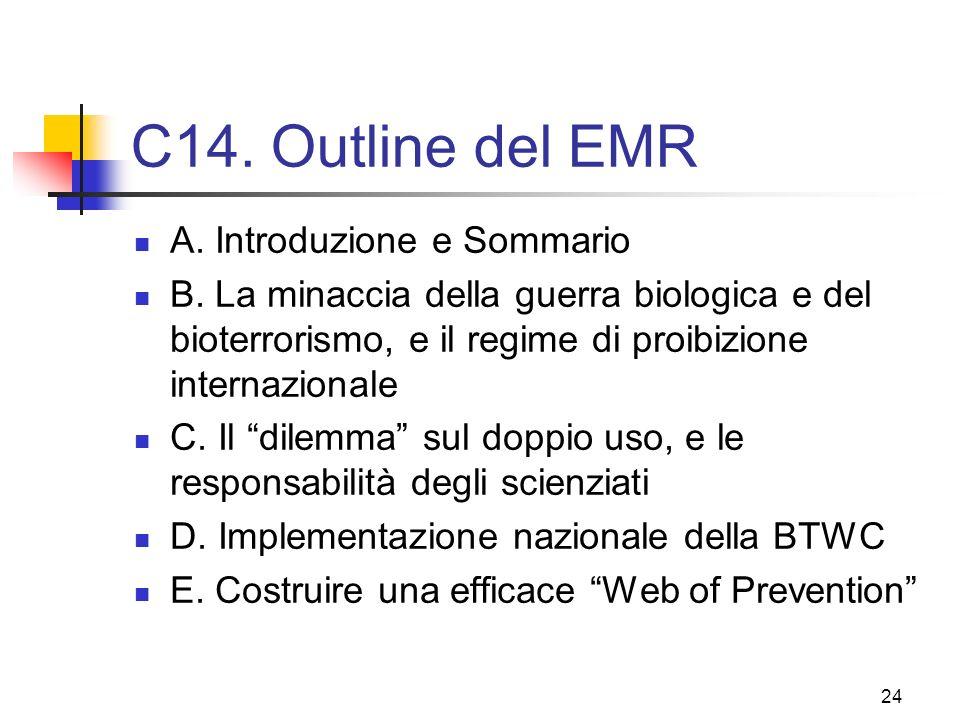 C14. Outline del EMR A. Introduzione e Sommario