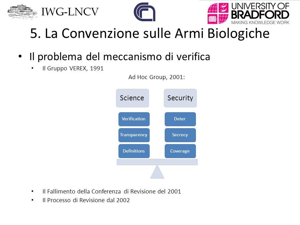 5. La Convenzione sulle Armi Biologiche