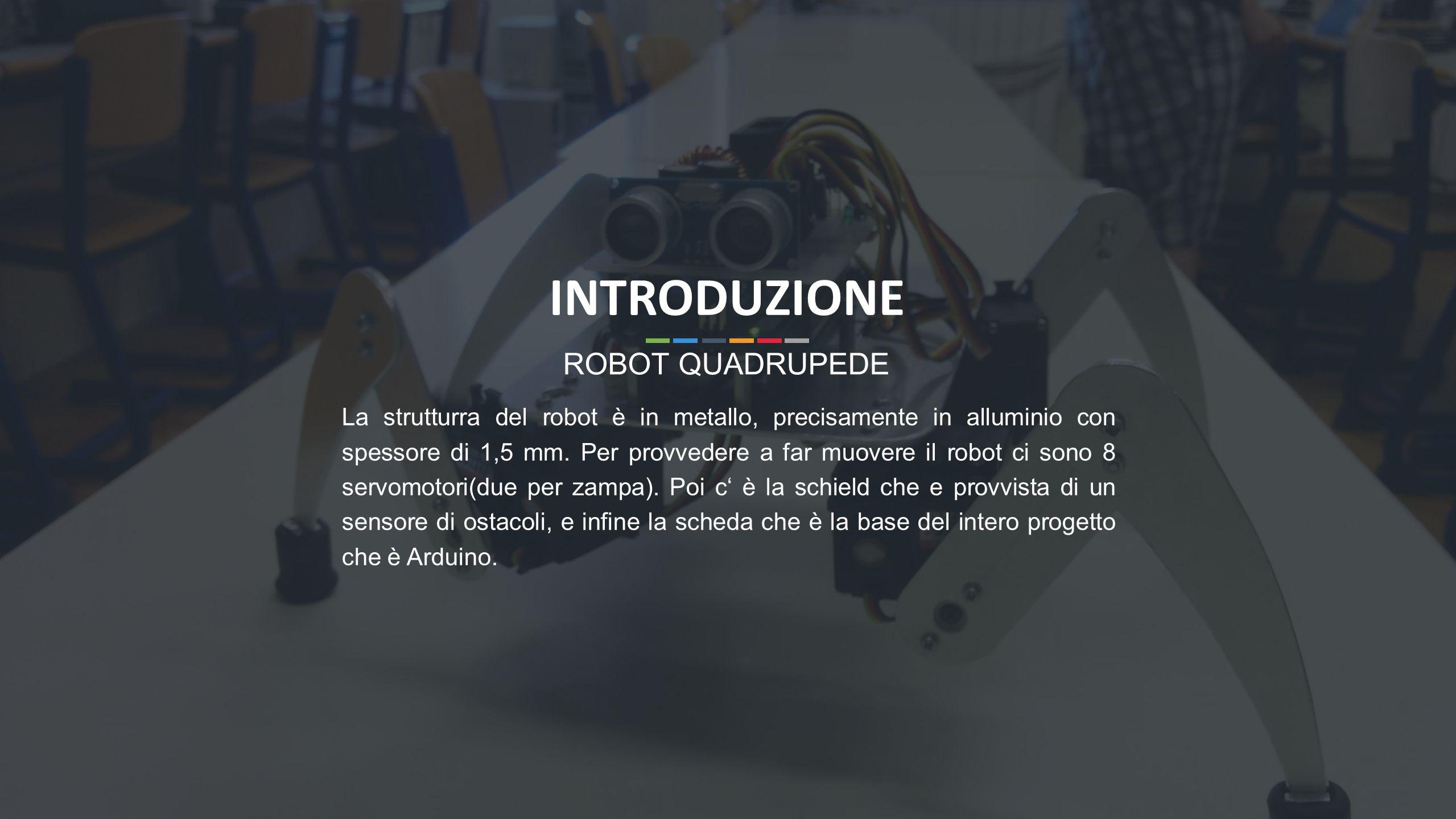INTRODUZIONE ROBOT QUADRUPEDE