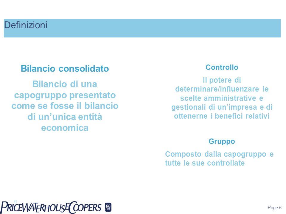 Definizioni Bilancio consolidato