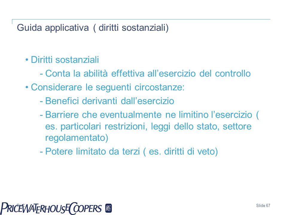 Guida applicativa ( diritti sostanziali)
