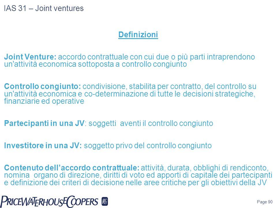 Partecipanti in una JV: soggetti aventi il controllo congiunto