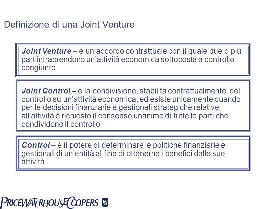 Definizione di una Joint Venture