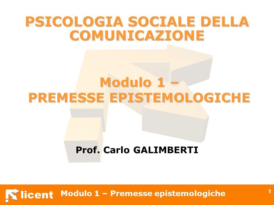 PSICOLOGIA SOCIALE DELLA COMUNICAZIONE
