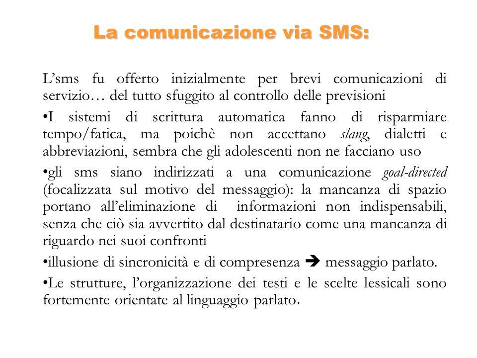La comunicazione via SMS: