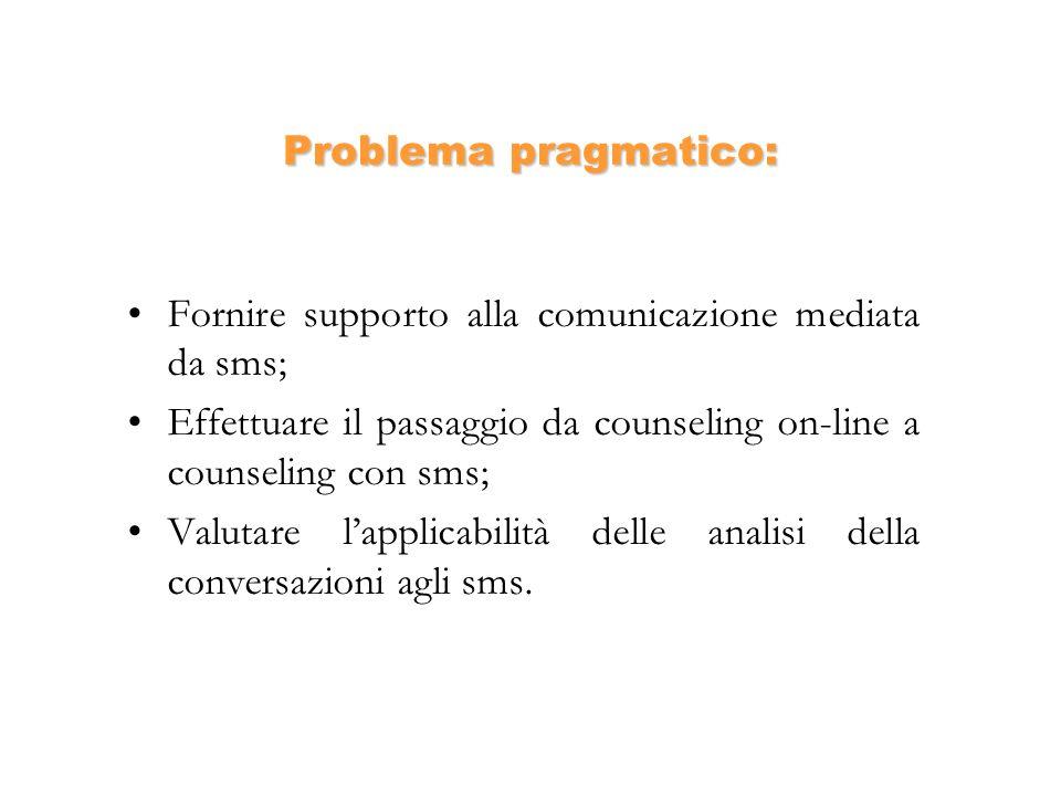 Fornire supporto alla comunicazione mediata da sms;