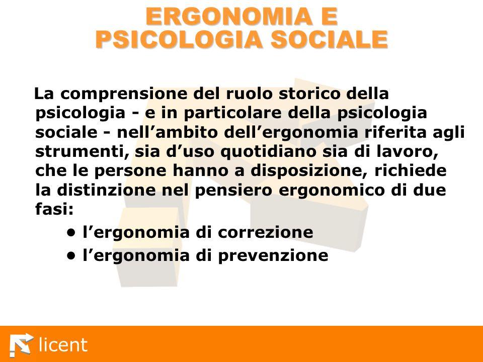 ERGONOMIA E PSICOLOGIA SOCIALE