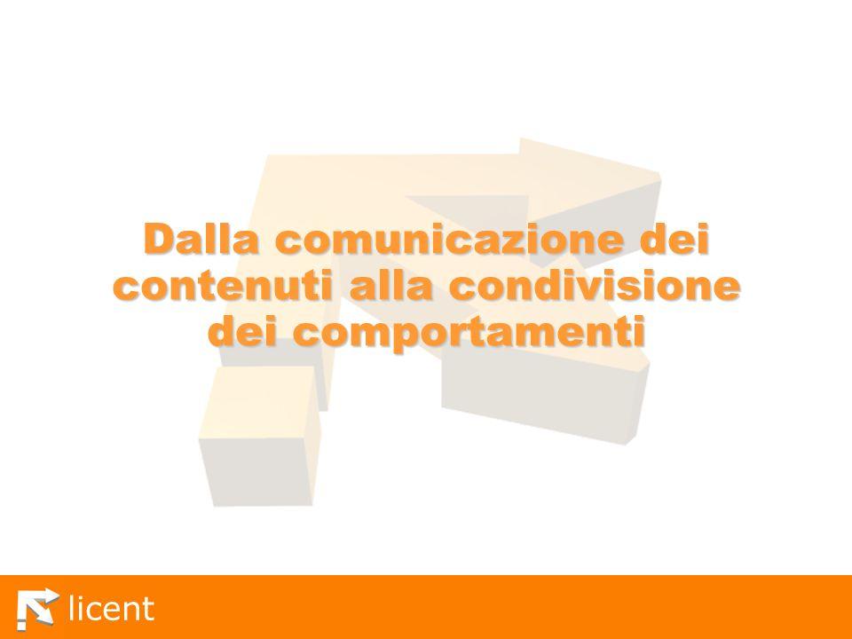 Dalla comunicazione dei contenuti alla condivisione dei comportamenti