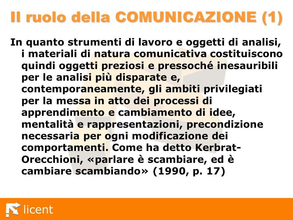 Il ruolo della COMUNICAZIONE (1)