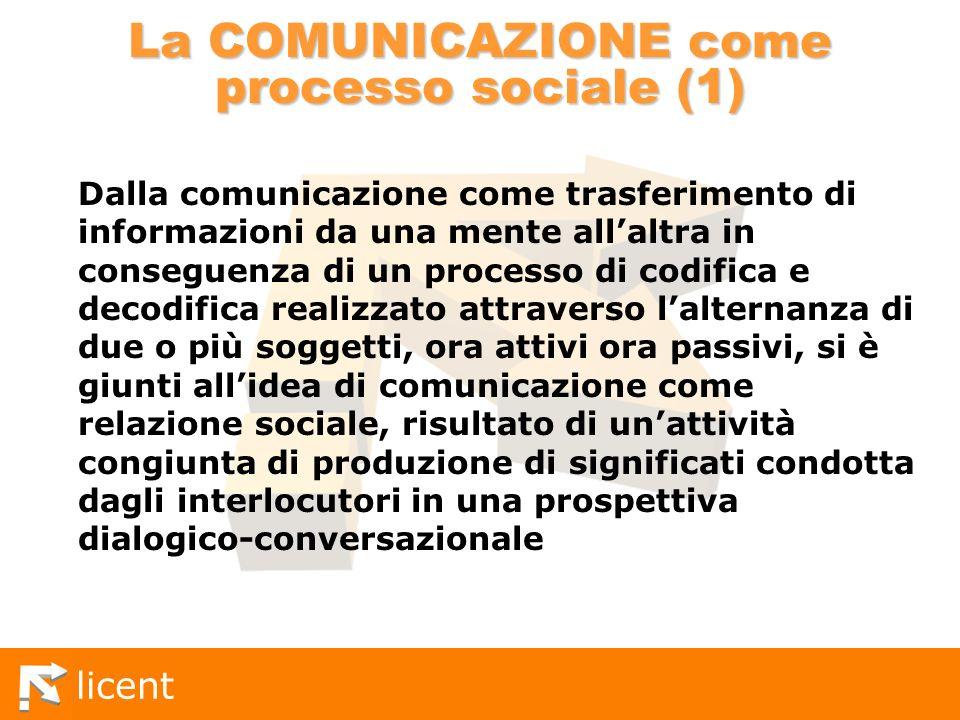 La COMUNICAZIONE come processo sociale (1)