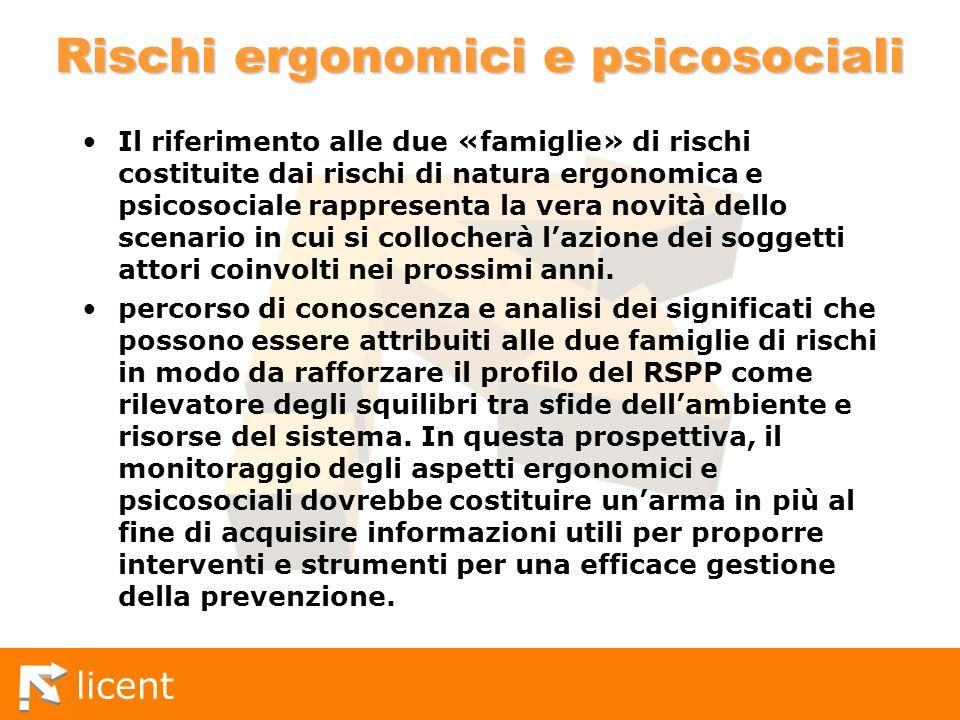 Rischi ergonomici e psicosociali
