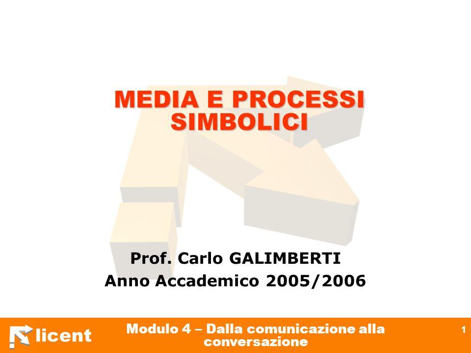 MEDIA E PROCESSI SIMBOLICI