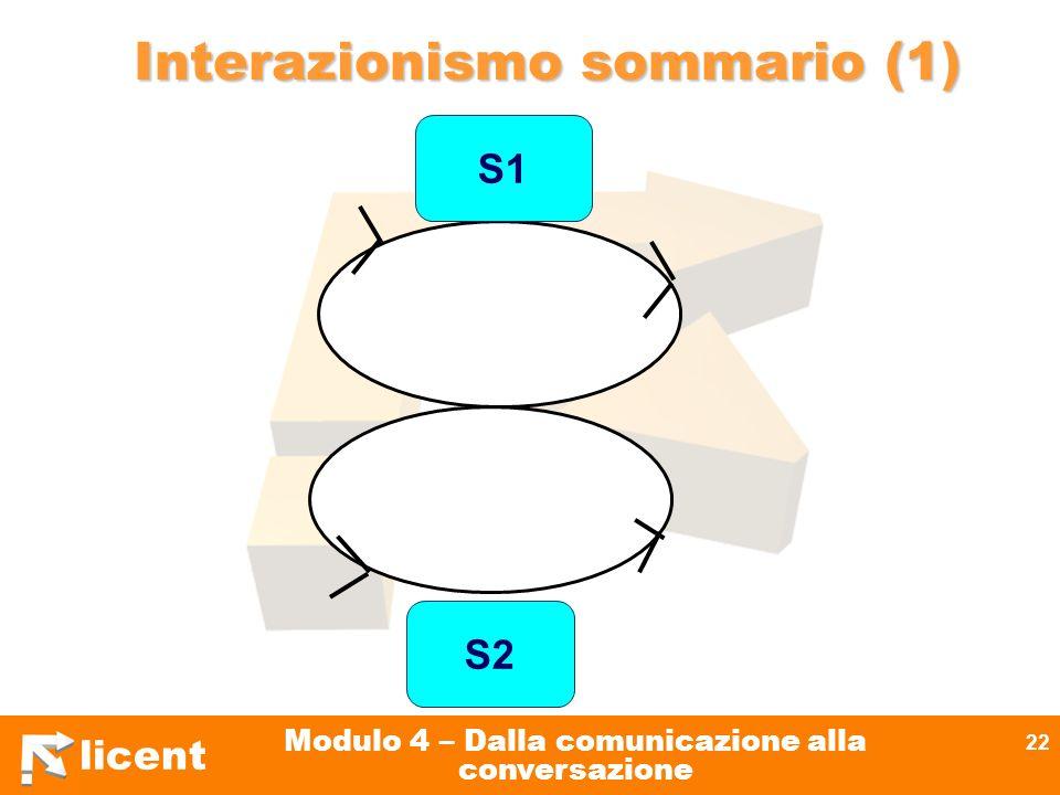 Interazionismo sommario (1)