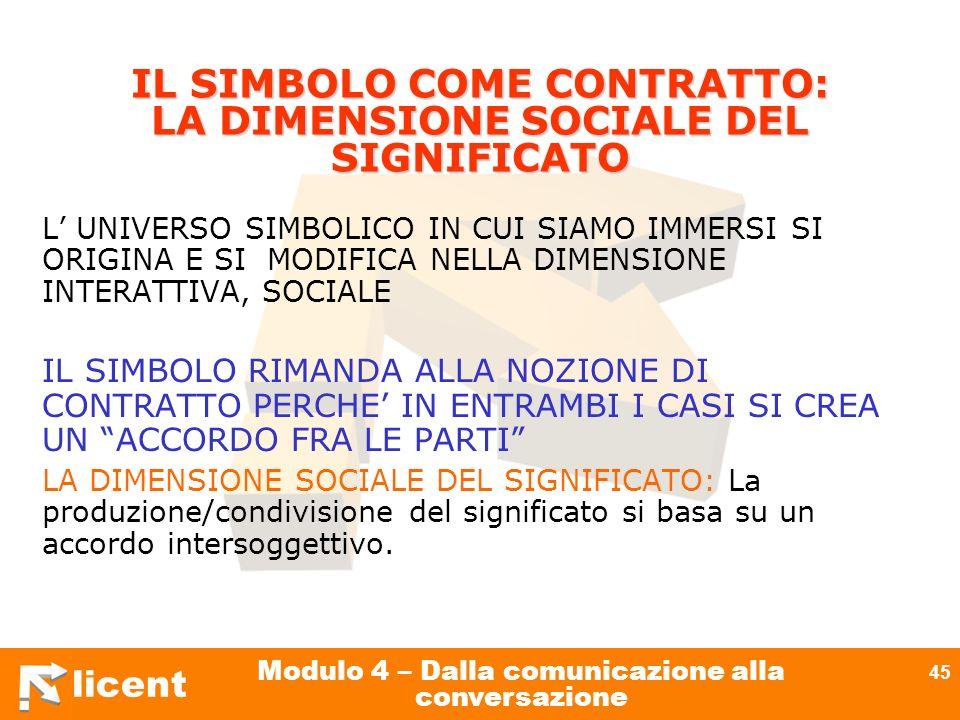 IL SIMBOLO COME CONTRATTO: LA DIMENSIONE SOCIALE DEL SIGNIFICATO