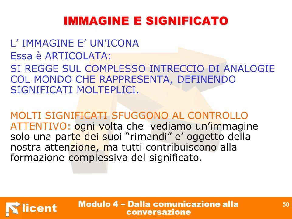 IMMAGINE E SIGNIFICATO