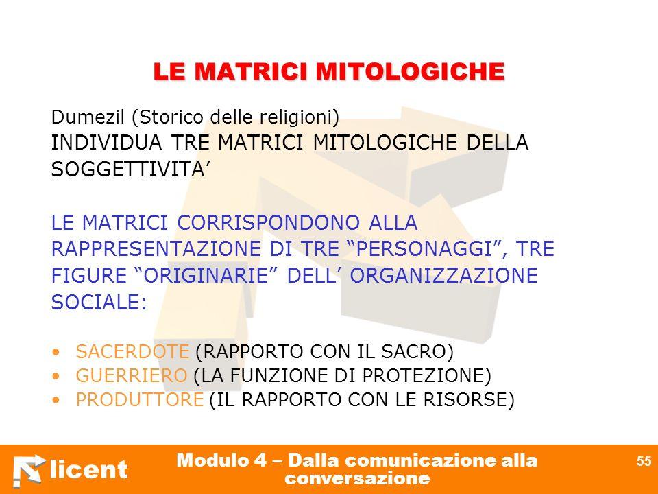 LE MATRICI MITOLOGICHE