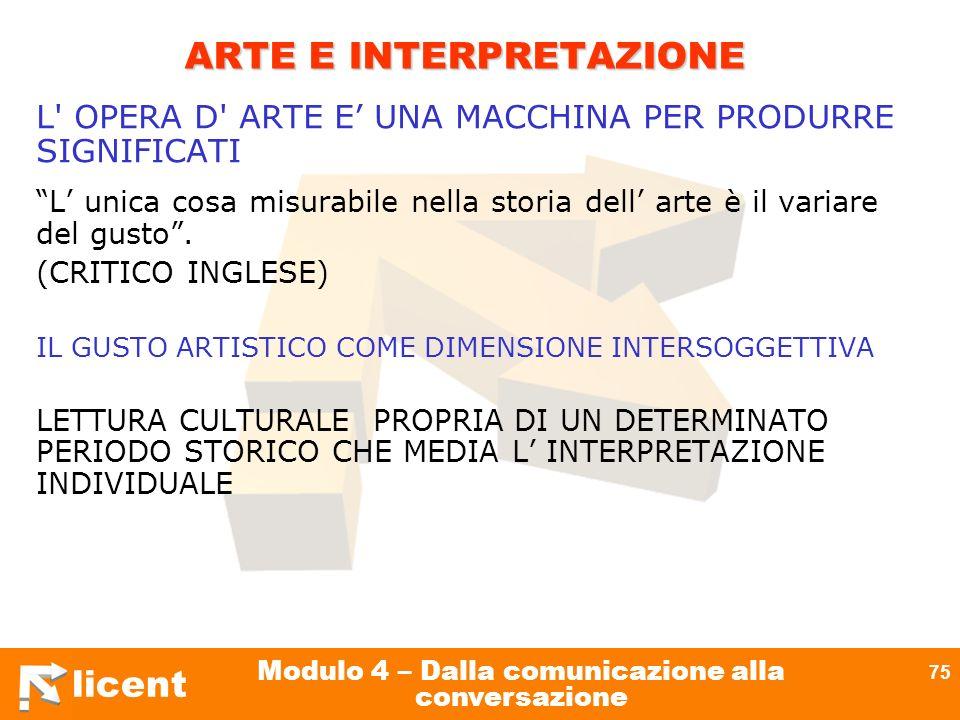 ARTE E INTERPRETAZIONE