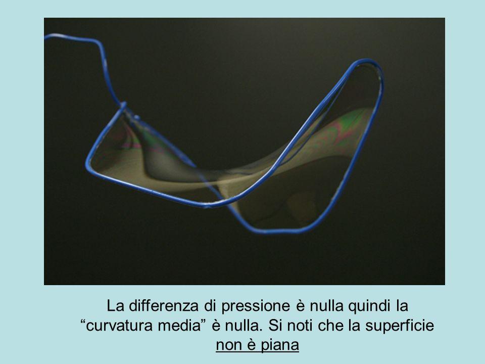 La differenza di pressione è nulla quindi la curvatura media è nulla
