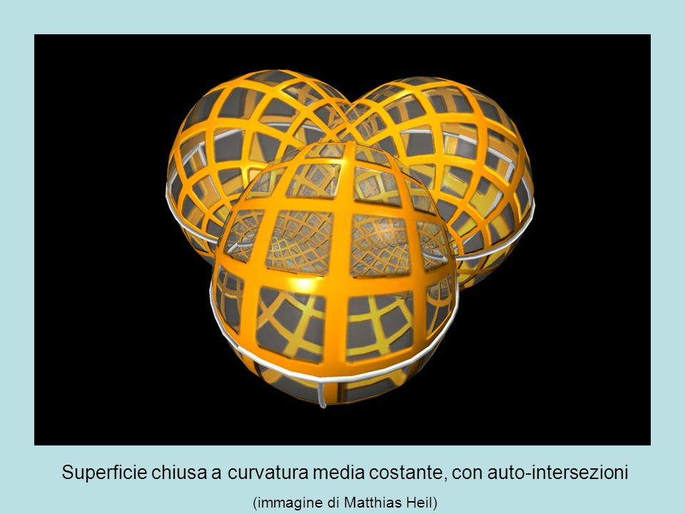Superficie chiusa a curvatura media costante, con auto-intersezioni