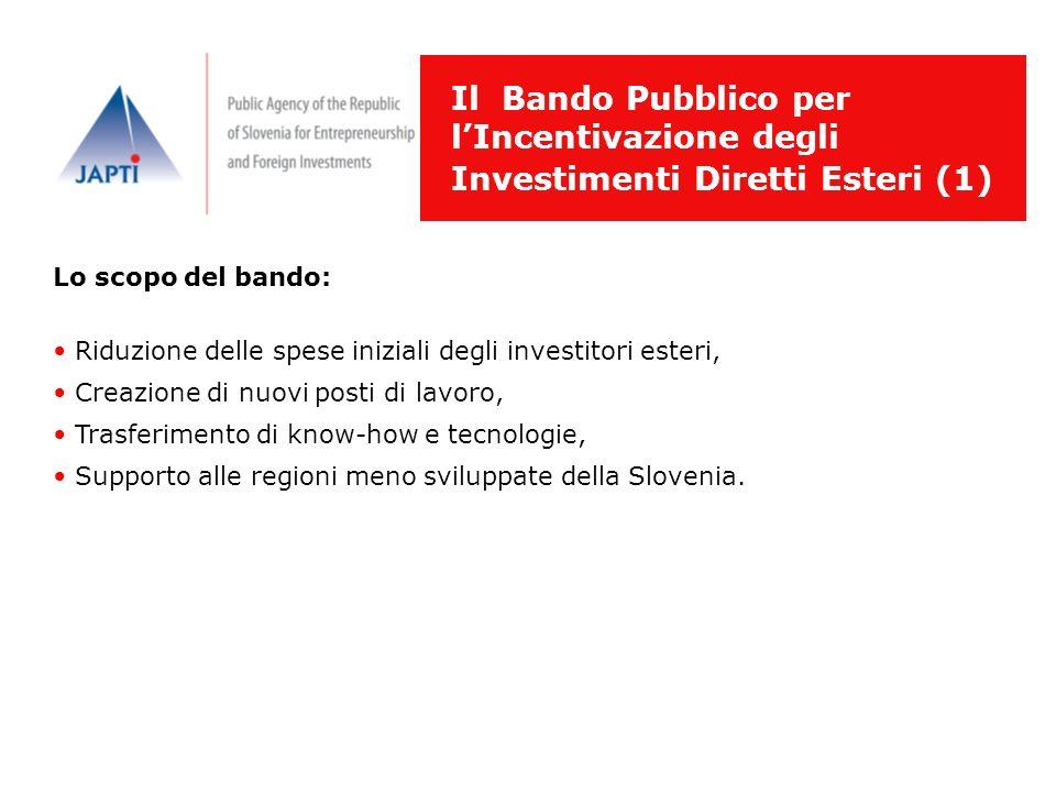 Il Bando Pubblico per l'Incentivazione degli Investimenti Diretti Esteri (1)