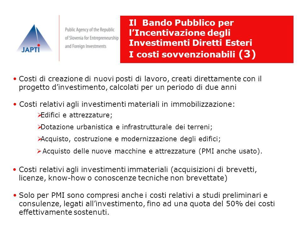I costi sovvenzionabili (3)
