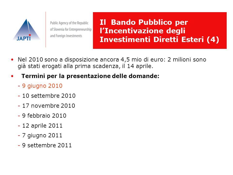 Il Bando Pubblico per l'Incentivazione degli Investimenti Diretti Esteri (4)