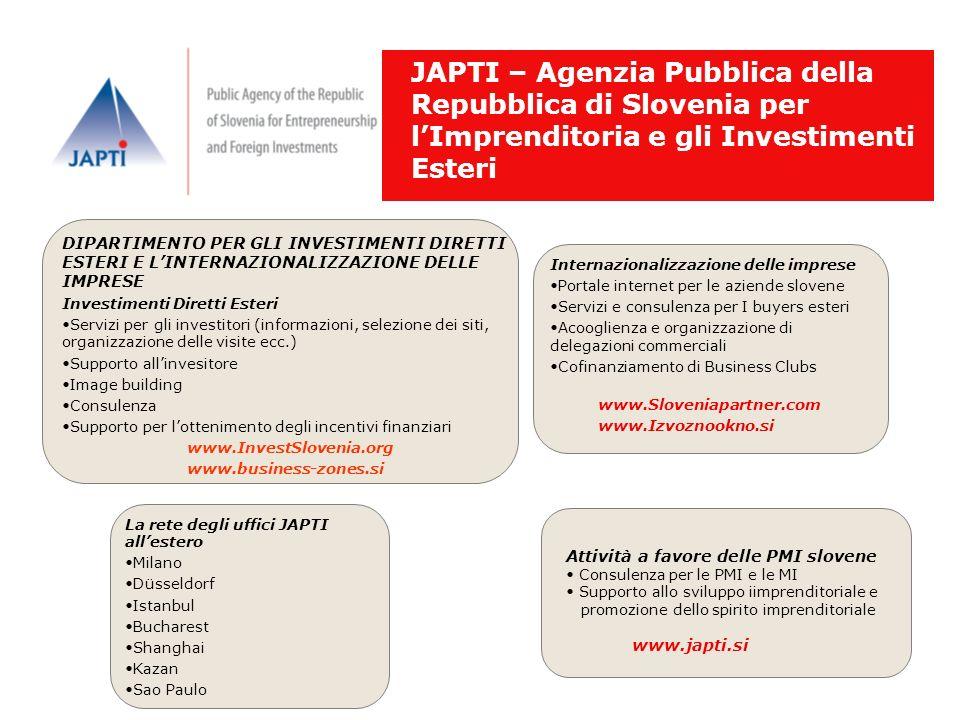 JAPTI – Agenzia Pubblica della Repubblica di Slovenia per l'Imprenditoria e gli Investimenti Esteri