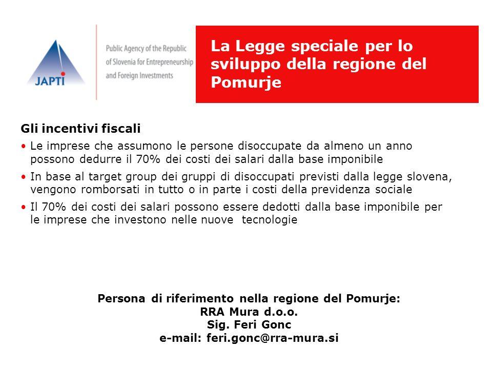 La Legge speciale per lo sviluppo della regione del Pomurje