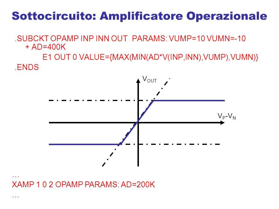 Sottocircuito: Amplificatore Operazionale