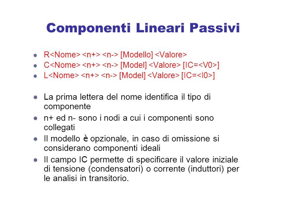 Componenti Lineari Passivi