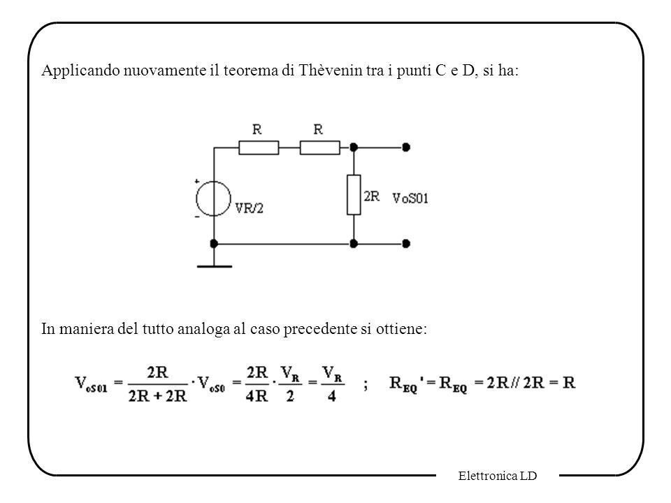 Applicando nuovamente il teorema di Thèvenin tra i punti C e D, si ha: