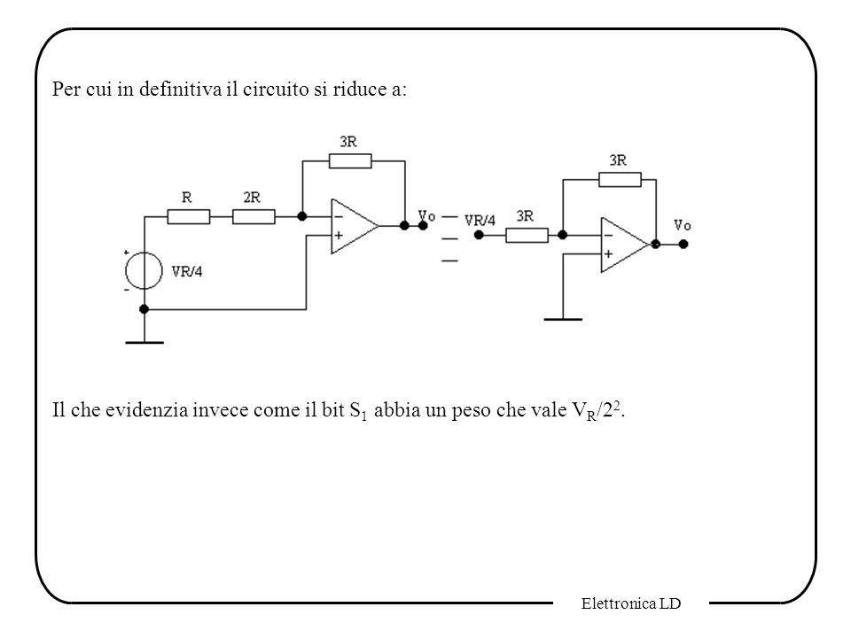 Per cui in definitiva il circuito si riduce a: