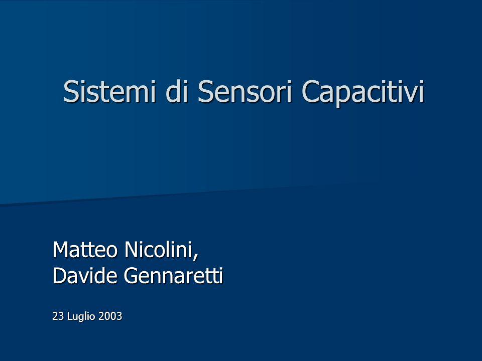 Sistemi di Sensori Capacitivi