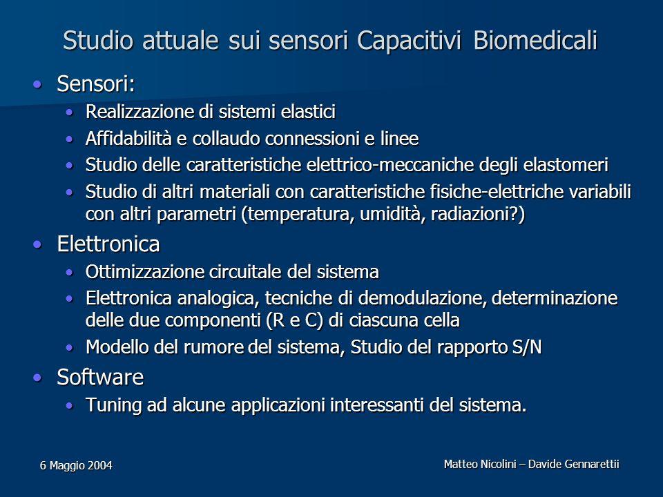Studio attuale sui sensori Capacitivi Biomedicali