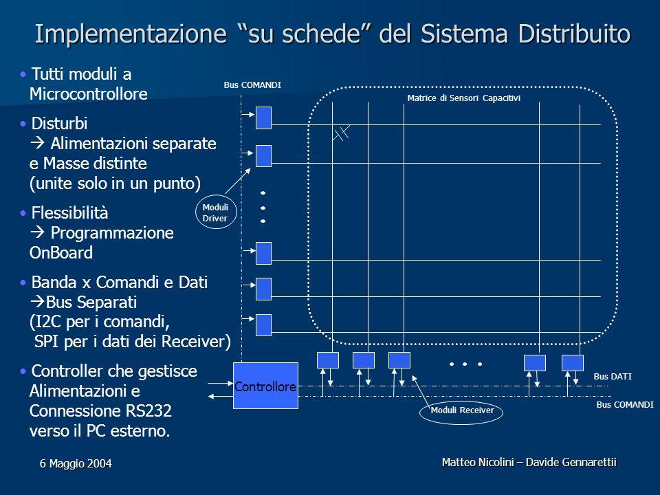 Implementazione su schede del Sistema Distribuito