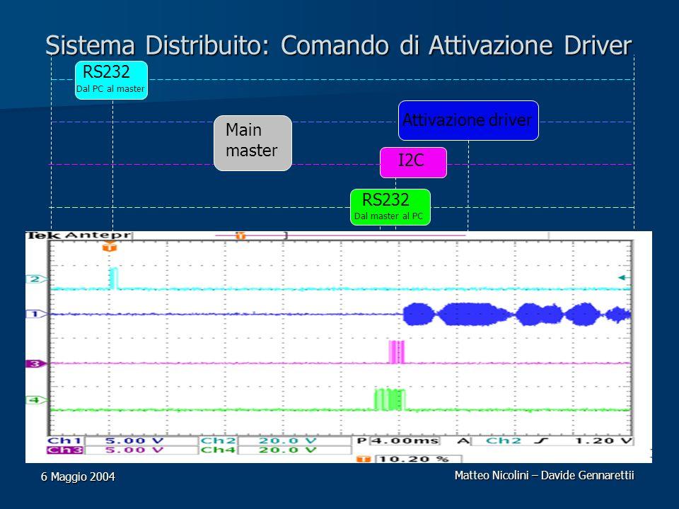Sistema Distribuito: Comando di Attivazione Driver