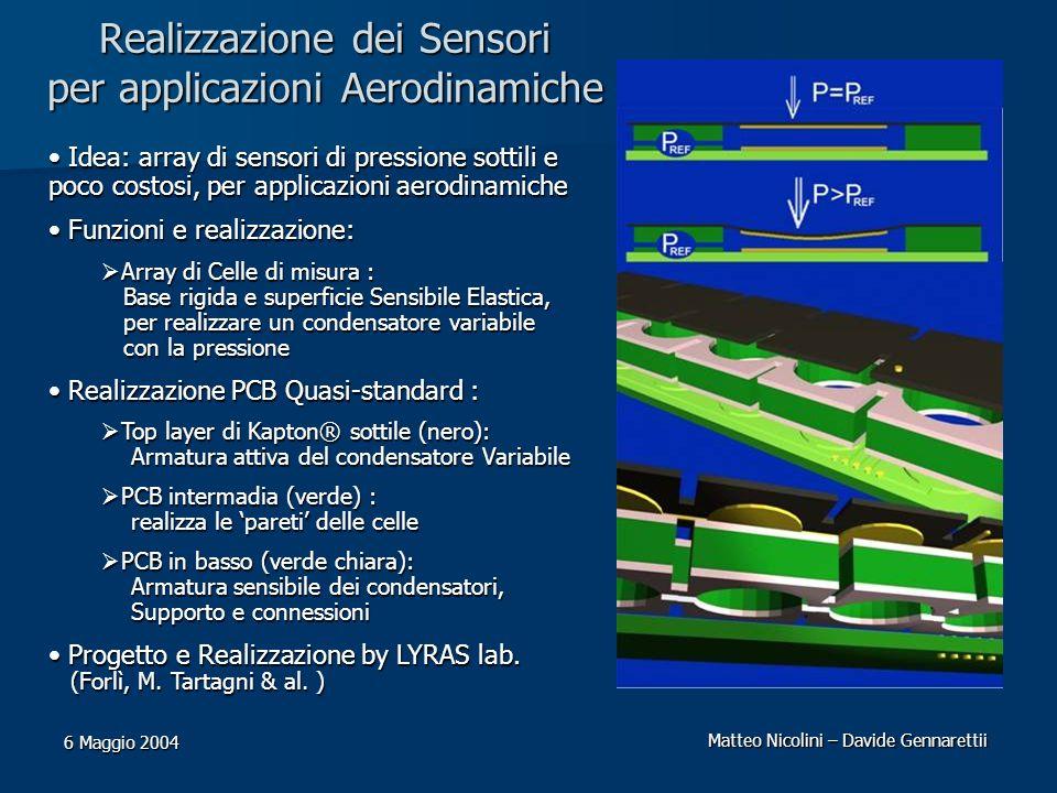 Realizzazione dei Sensori per applicazioni Aerodinamiche