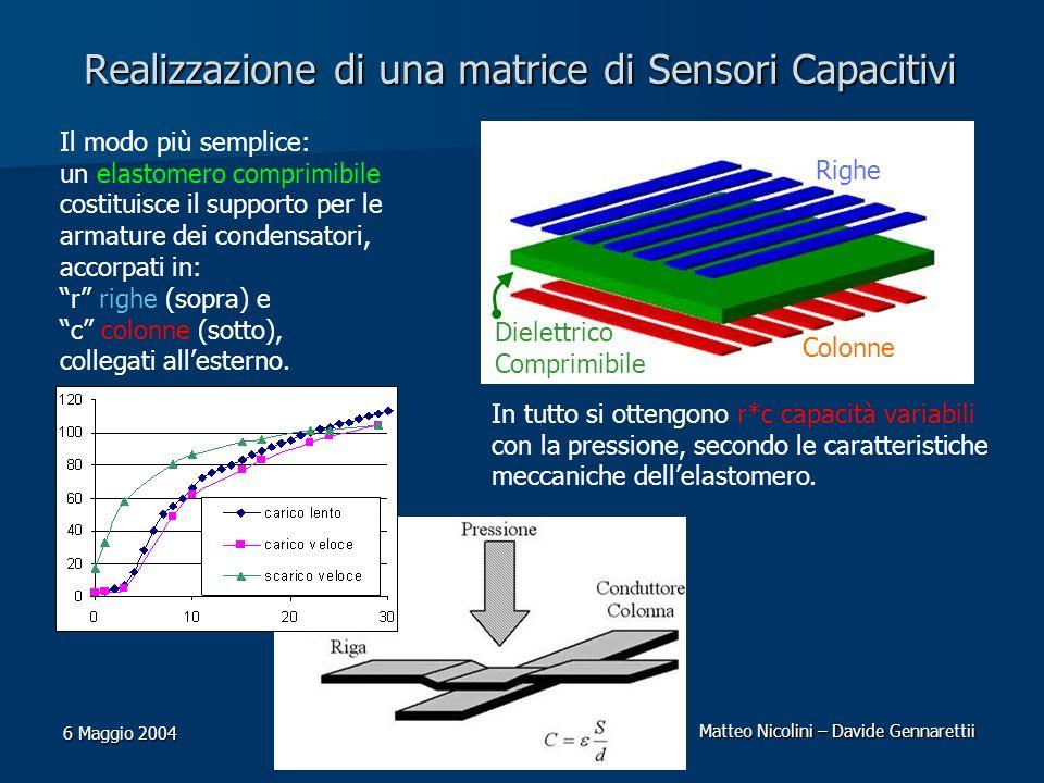Realizzazione di una matrice di Sensori Capacitivi